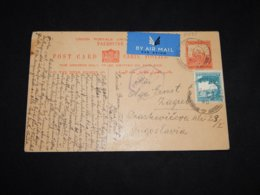 Palestine 1940 Tel Aviv Stationery Card To Yugoslavia__(L-31735) - Palestine