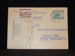 Poland 1937 Grodziec 15Gr Stationery Card To Finland__(L-32495) - Entiers Postaux