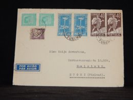 Portugal 1937 Funchal Air Mail Cover To Finland__(L-34271) - Luftpost