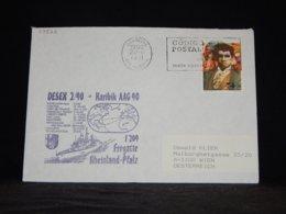 Portugal 1990 Lisboa Fregatte Rheinland-Pfalz Cover__(L-33522) - 1910 - ... Repubblica