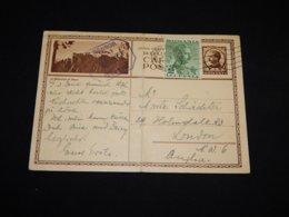 Romania 1940 6lei Stationery Card To UK__(L-31742) - Enteros Postales