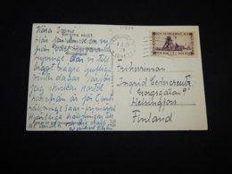 Saargebiet 1921 Saarbruck Postcard To Finland__(L-31837) - 1920-35 Saargebied -onder Volkenbond