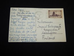 Saargebiet 1921 Saarbruck Postcard To Finland__(L-31837) - 1920-35 Saargebiet – Abstimmungsgebiet