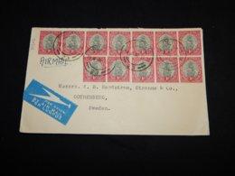South Africa 1936 Pretoria Air Mail Cover To Sweden__(L-31403) - África Del Sur (...-1961)