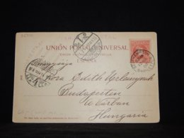 Spain 1906 Southampton Postcard To Hungary__(L-32306) - 1889-1931 Royaume: Alphonse XIII