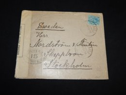 Spain 1918 Pasajes Censored Cover To Sweden__(L-31704) - Briefe U. Dokumente