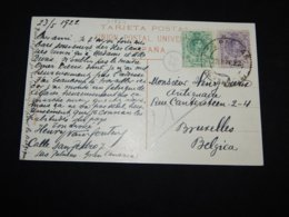 Spain 1922 Postcard To Belgium__(L-31864) - Briefe U. Dokumente