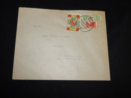 Spain 1937 Huelva Splitted Staps Cover__(L-31988) - 1931-Today: 2nd Rep - ... Juan Carlos I