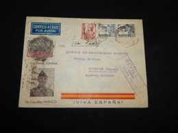 Spain 1937 Sevilla Air Mail Cover To Germany__(L-31982) - Luftpost
