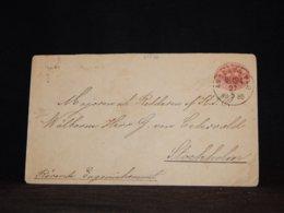 Sweden 1886 Ångbåts 10ö Red Stationery Envelope__(L-33336) - Postwaardestukken