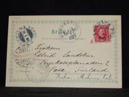 Sweden 1901 Ångbåts Ship Mail Card__(L-33274) - Brieven En Documenten