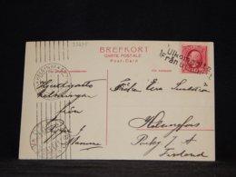 Sweden 1907 Från Utlandet Ship Mail Card__(L-33275) - Brieven En Documenten