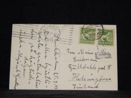 Sweden 1933 Turku Ship Mail Postcard To Finland__(L-33932) - Brieven En Documenten