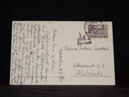 Sweden 1935 Helsinki Ship Mail Postcard__(L-33287) - Sweden