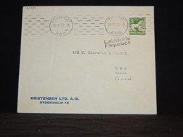 Sweden 1936 Turku Ship Mail Cover To Finland__(L-32334) - Sweden