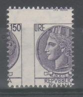 ITALIA 1976 - Siracusana 150 L. - Varietà Dentellatura Molto Spostata **             (g6348) - Variedades Y Curiosidades