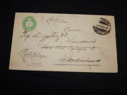 Switzerland 1892 Geneve Green Stationery Envelope To Sweden__(L-31402) - Interi Postali