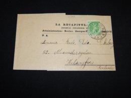 Switzerland 1909 Geneve 5c Green Wrapper__(L-31799) - Interi Postali