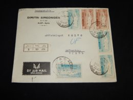 Syria 1950's Alep Air Mail Cover To Sweden__(L-31531) - Syrien