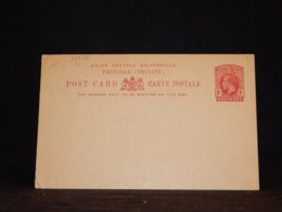 Trinidad & Tobago 1d Red Unused Stationery Card__(L-32539) - Trinité & Tobago (...-1961)