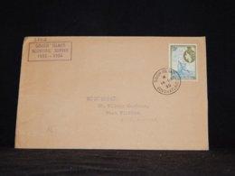 Tristan Da Cunha 1955 Gouch Island Cover To UK__(L-33512) - Tristan Da Cunha