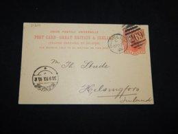 UK 1893 Dursley Number Cancellation Stationery Card To Finland__(L-31219) - Postwaardestukken