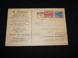 UK 1922 Berlin G.Altmann Business Card To Estonia__(L-31334) - 1902-1951 (Kings)
