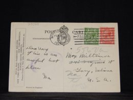 UK 1924 New York Paquebot Postcard To USA__(L-33928) - 1902-1951 (Kings)