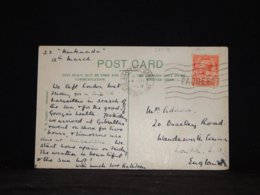 UK 1929 Marseille S.S.Narkunda Paquebot Postcard__(L-32479) - 1902-1951 (Koningen)