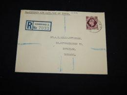 UK 1947 Cambridge Registered Cover To Denmark__(L-31916) - 1902-1951 (Re)