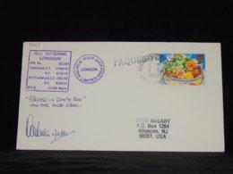 UK 1989 Tahiti M.v. Ivybank London Paquebot Cover__(L-34013) - 1952-.... (Elisabeth II.)