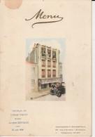 """Menu """"Etablissement Bonrepaux Bordeaux """" - 1934 - Menükarten"""