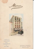 "Menu ""Etablissement Bonrepaux Bordeaux "" - 1934 - Menus"