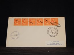 USA 1938 Santa Onez Seapost Cover__(L-34112) - Etats-Unis