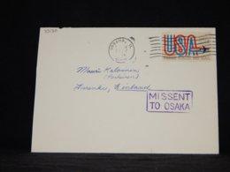USA 1980's Urbana Missent To Osaka Cover__(L-33130) - Vereinigte Staaten