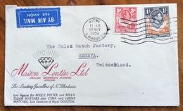 DIAMANTI MAISON LENTIN LTD RHODESIA  REGISTERED FROM KITWE 19 NOV 1952 FROM GENEVA SUISSE - Other