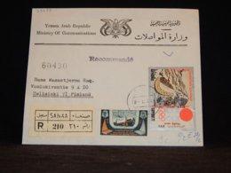 Yemen (Arab) 1971 Sanaa Registered Cover To Finland__(L-33033) - Jemen