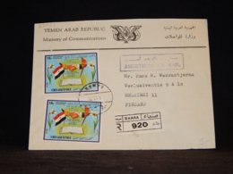 Yemen (Arab) 1972 Sanaa Registered Cover To Finland__(L-33034) - Yemen
