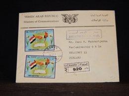 Yemen (Arab) 1972 Sanaa Registered Cover To Finland__(L-33034) - Jemen
