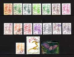 FRANCE LOT DE 17 TIMBRES OBLIETERES DE 2013 - Used Stamps