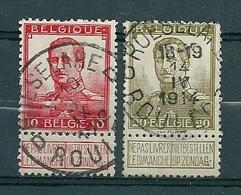 111/112 Gestempeld ROESELARE - ROULERS D - COBA 4 Euro - 1912 Pellens