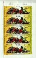 Luxembourg Feuillet De 10 Timbres à 0,70 Euro 75 Ans Fédération Horticole Luxembourgeoise 2006 - Blocs & Hojas