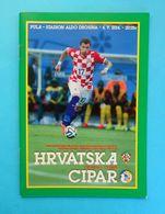 CROATIA Vs CYPRUS - 2014. Friendly Football Match Programme Soccer Fussball Programm Calcio Programma Kroatien Croazia - Tickets D'entrée