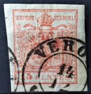 AUSTRIA / LOMBARDO-VENEZIA 1850/54 - VERONA Cancel - ANK LV3 - 15 Centes - Oblitérés