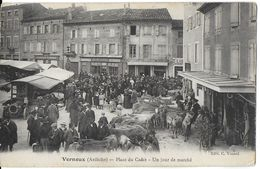 VERNOUX 07 ARDÈCHE PLACE DU CADET UN JOUR DE MARCHE EDIT. VINARD - Vernoux