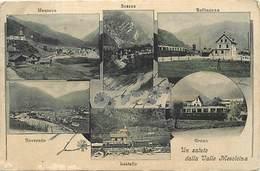 Pays Div- Suisse -ref V503- Un Saluto Dalla Valle Mesolcina -mesocco -soazza - Bellinzona -roveredo -lostallo - Grono - - Schweiz