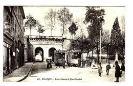 25 - Besançon- Portes Battant - Place Bouchot - Animée - Tramway - Publicité Peugeot - Bel état - 1912 - Besancon