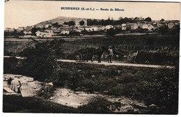 Saône Et Loire BUSSIERES Route De Mâcon (attelage) - Altri Comuni