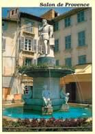 13 - Salon De Provence - Fontaine Et Statue Adam De Craponne - Carte Neuve - Voir Scans Recto-Verso - Salon De Provence