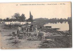 CPA 78 Carrieres Sur Seine Devant Le Lavoir - Carrières-sur-Seine